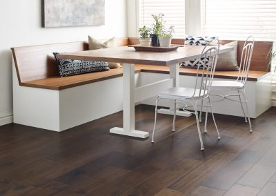 """Floorte Hardwood"" in Magnificent Western Walnut color by Shaw"