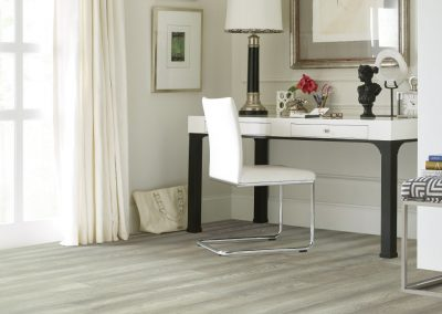 """Floorte Exquisite"" in Silverado color by Shaw"